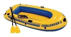 Bote inflable challenger intex 2 personas camping playa rio
