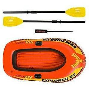 Bote inflable explorer 200 intex camping playa piscina rio