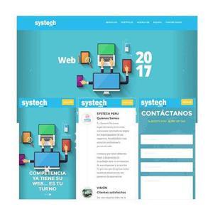 Diseño pagina web en lima + responsive s/350 x servicio