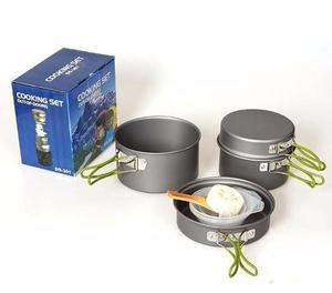 Set de ollas para camping campamento trekking, delivery!