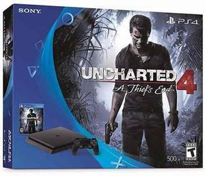 Playstation 4 ps4 slim 500gb + uncharted 4 nuevo en caja