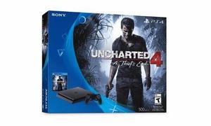 Playstation 4 slim 500gb console - uncharted 4 bundle.
