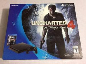Playstation 4 slim 500gb modelo-cuh 2015a con uncharted 4