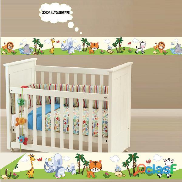 Cenefas junglita animalitos decoracion bebes niños lima,peru