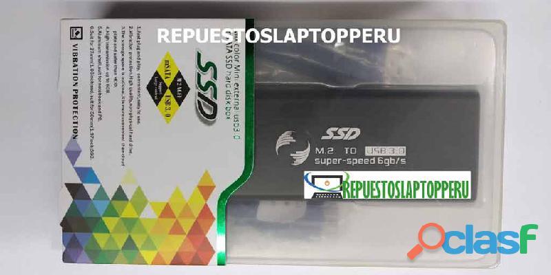 Adaptador convertidor case ssd m.2 a usb 3.0 con gabinete