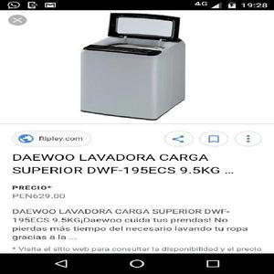 Vendo lavadora daewo 9.5 kg
