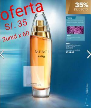 Perfumes esika oferta sellados