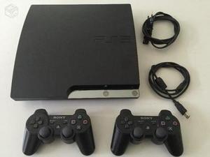 Playstation 3 slim 320gb sin flashear, 25 juegos y 2 mandos