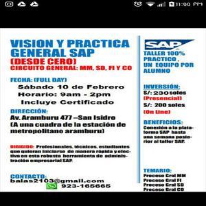 Vision general sap en un dia sabado