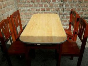 Juego comedor mesas sillas madera buen e en Lima 【 OFERTAS Abril ...