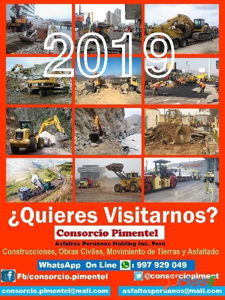Obras de saneamiento agua, desagüe, alcantarillado, reservorios 2020