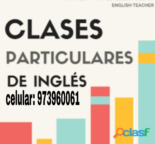 Profesor dicta clases particulares de ingles en tacna