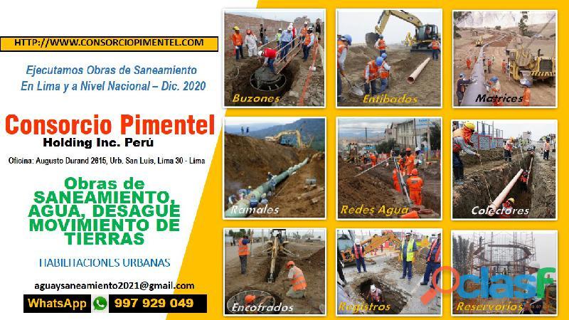 Agua potable y saneamiento en perú – ejecución de obras