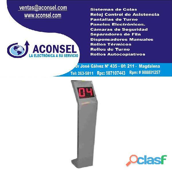 Dispensador de turnos electrónico touchscreen tipo atril