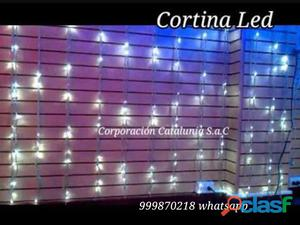 Venta de cortina luces led