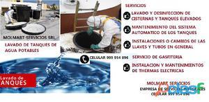 Lavado de cisternas y tanques de agua