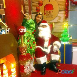 Show navideño con papa noel, show infantil, animadoras, filmacion   oferta s/. 180.00