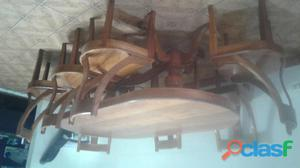 Mesa de madera cedro con 8 sillas