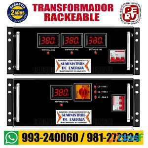 Transformador rackeable 3
