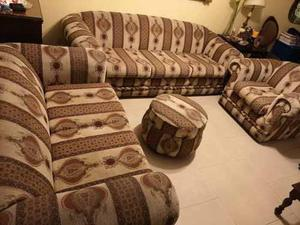 Juego de muebles de sala 3-2-1 + puff
