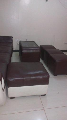 Juego de muebles para sala 100% cuero original s/.6800 soles