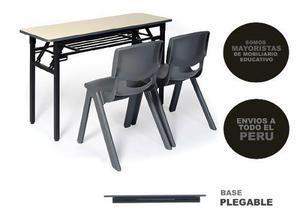 Mesa de trabajo retractil para estudiantes nueva