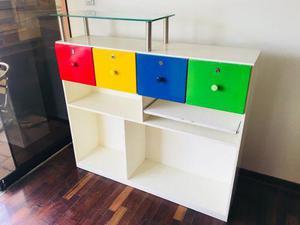 Mueble de recepción infantil, cómoda infantil, organizador