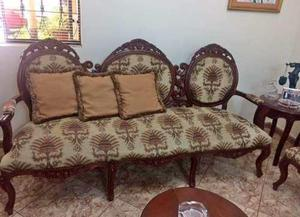 Sillones muebles de sala antiguos luis xv de caoba