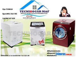 Servicio técnico reparación de lavadoras daewoo en lima