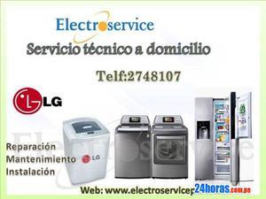 Servicio tecnico de mantenimiento, lavadoras lg