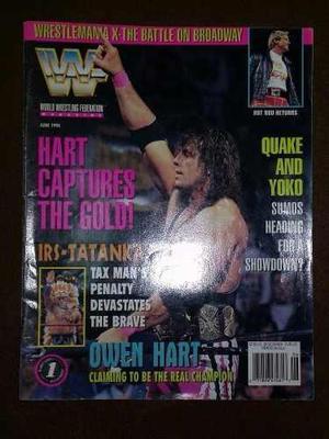 REVISTA VINTAGE WWF,.WWE 1994 RAW, DE COLECCION. segunda mano  Lima (Lima)