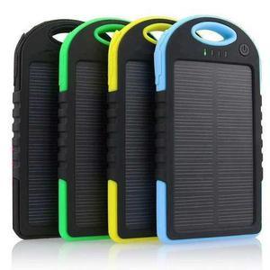 Cargador portátil solar power bank celular mayor y menor
