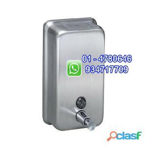 Dispensador de jabón líquido acero inoxidable 1200 ml vertical
