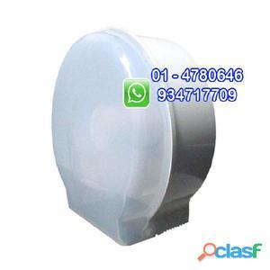 Dispensador de papel higiénico jumbo redondo blanco