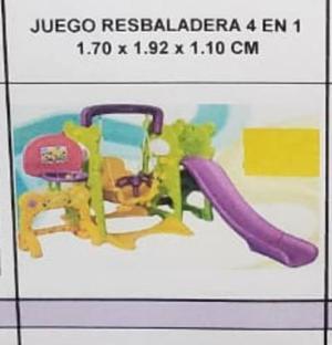 Juegos para niños 4 en 1 columpio tobogan resbaladera