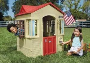 Juguete casa para niños cape cottage rojo litte tikes