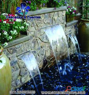 Fuente de agua, piletas , velo de agua, cascadas artificiales.