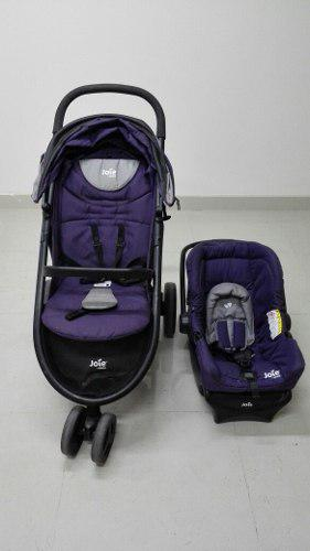 Coche de bebé jolie + asiento de bebé para carro.