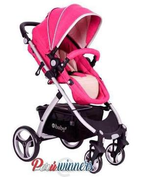33338be39 Coche travel system moises ebaby paris deluxe fucsia