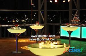 Led mesa cuadrada , led decoración luz de la tabla