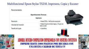 Impresoras epson stylus tx210/tx220/tx400/tx410/tx420w,t50