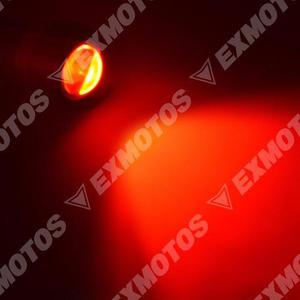 Par de ojos de aguila rojo funcion strobo para moto auto