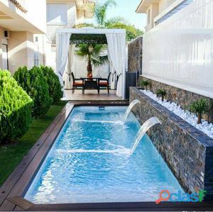 Estanques artificiales,rebose de agua para piscina, piletas