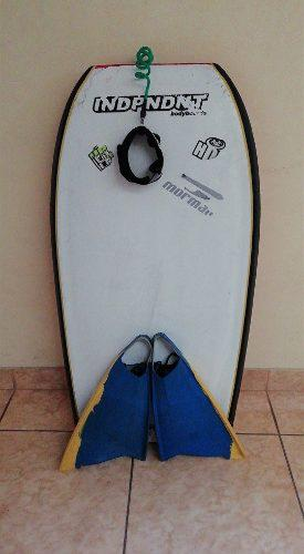 Bodyboard independent + pita + aletas pod