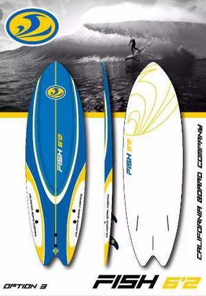 Tabla d surf blanda c b c fish 6`2 nueva