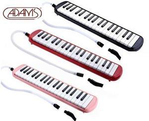Flauta melodica adams 37 teclas rosado rojo y negro estuche