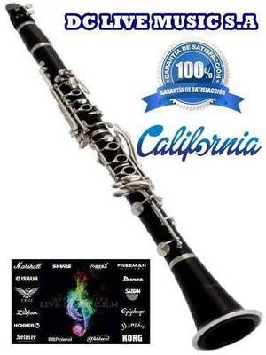 Nuevo, clarinete marca california, calidad indiscutible