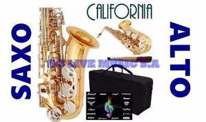 Saxo alto california!! nuevo, accesorios completos!!!!!!