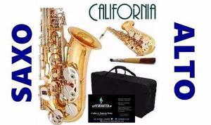 Saxo alto dorado, california!!! un saxo de potente sonido,!!
