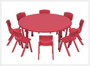 Mesa circular para niños